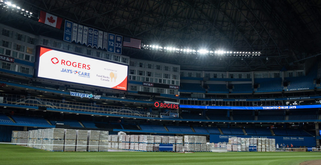 Rogers Centre to house 10 million pounds of food for people in need