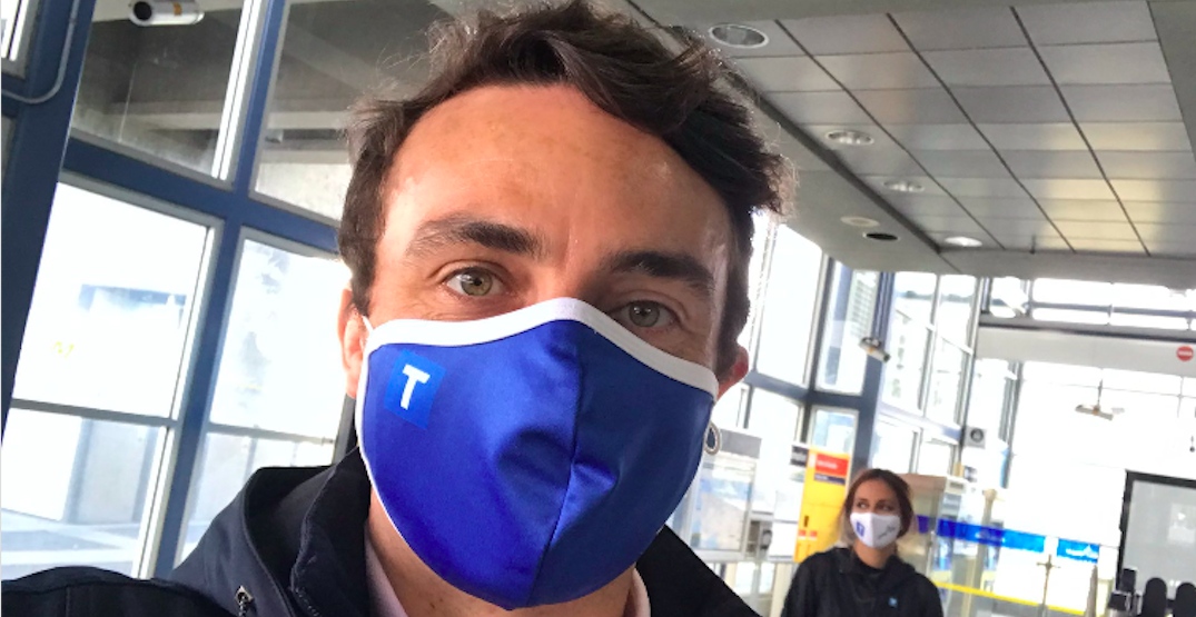 TransLink is launching branded face masks for passengers