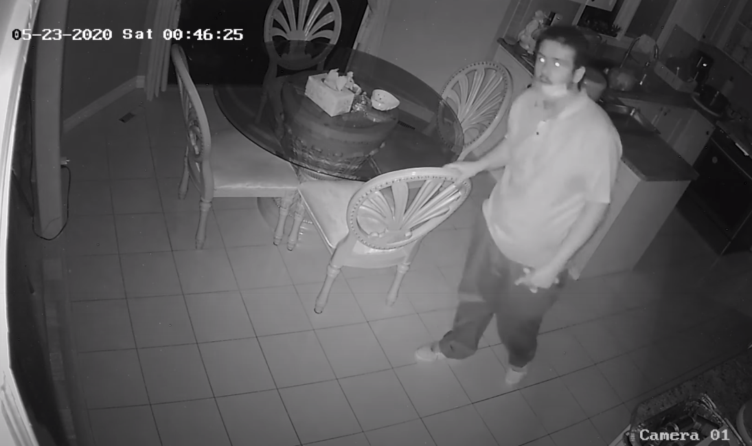 Man carrying knife allegedly enters bedroom, steals phone and cash as homeowners slept (VIDEO)