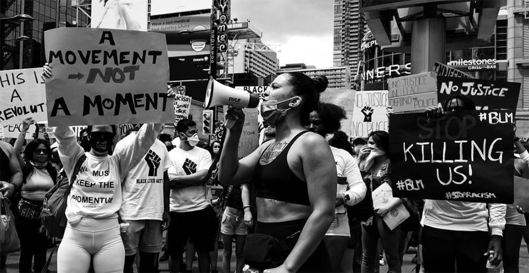 Protesters gather in Toronto for another anti-Black racism demonstration