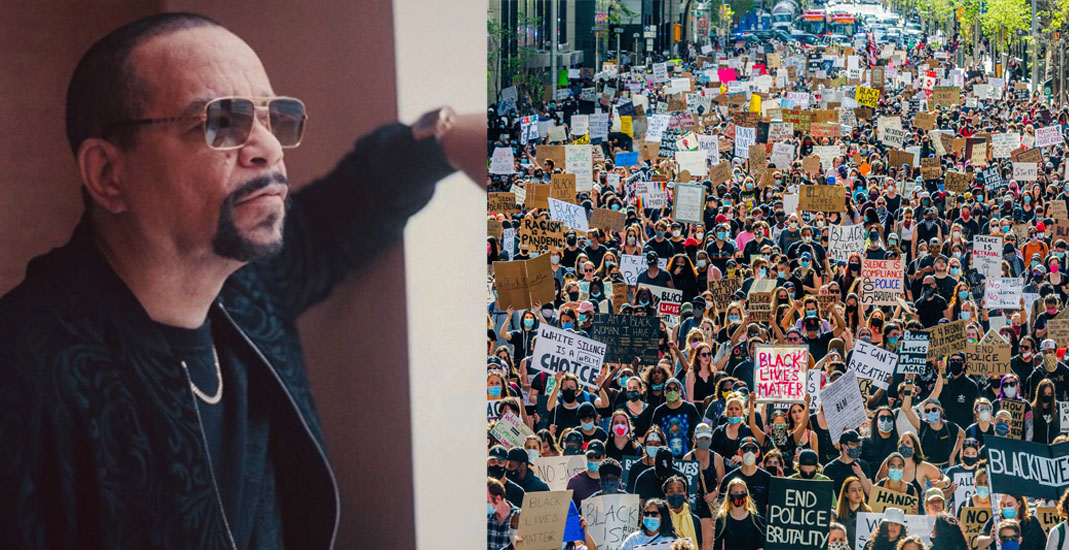 Rapper Ice T shouts out Calgary for massive anti-racism protest