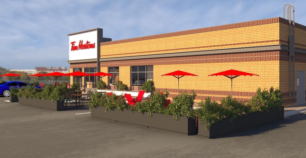 Tim Hortons is expanding outdoor patios across Canada (RENDERINGS)