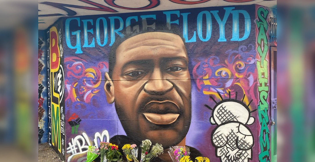 Murals honoring George Floyd are being painted around the world