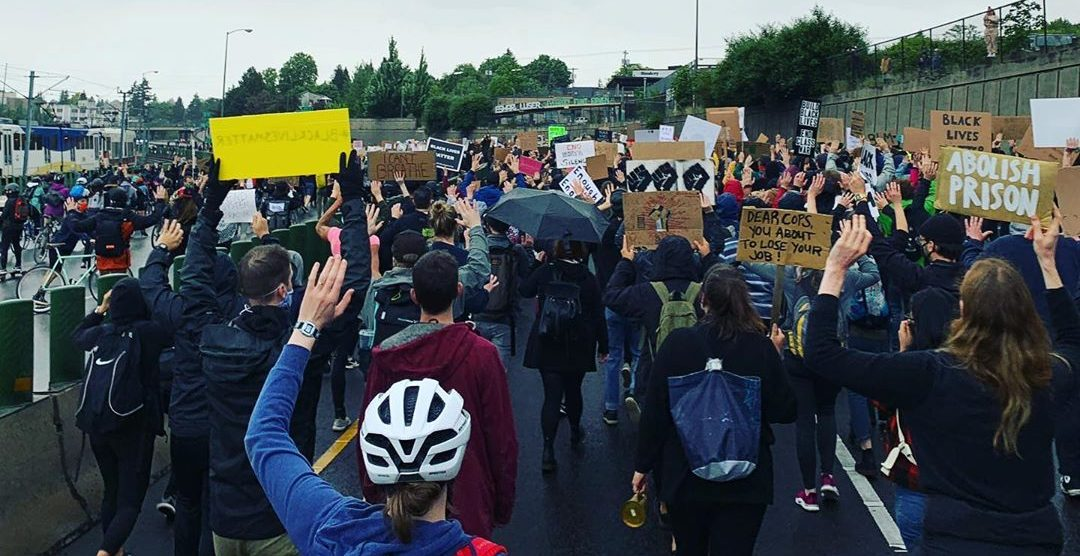 Portland protest shuts down i-84 on Monday (PHOTOS)