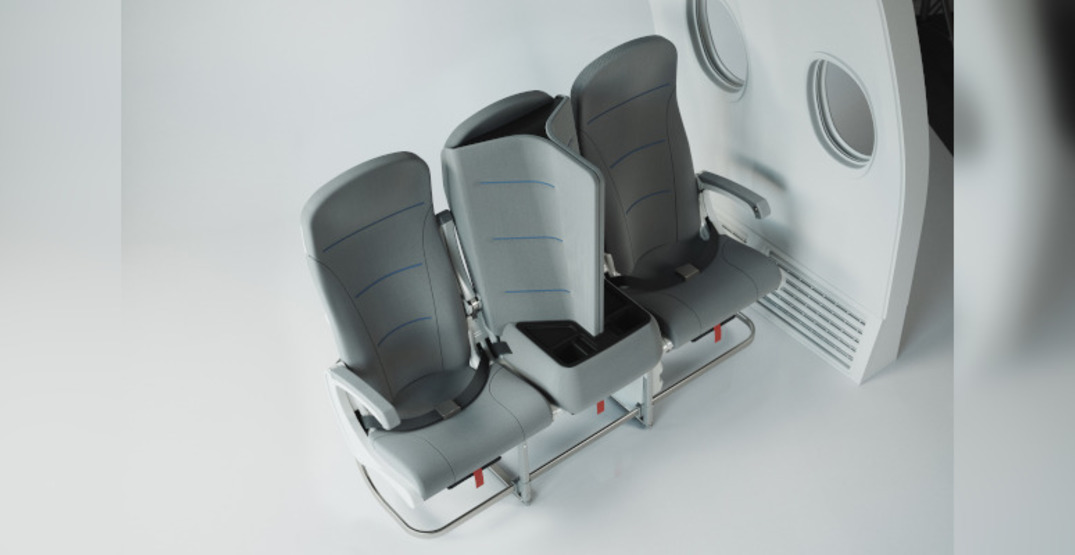 Airplane seat could provide a solution for physical distancing on flights