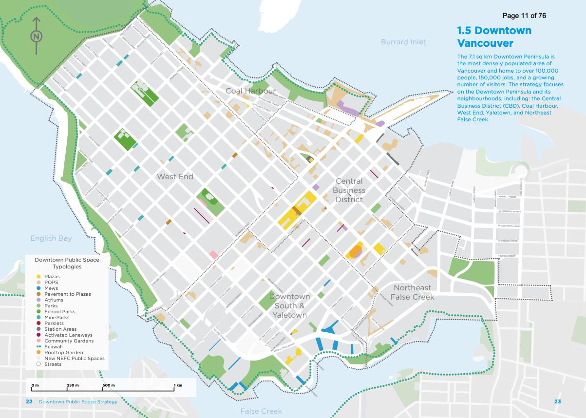 downtown vancouver public space map