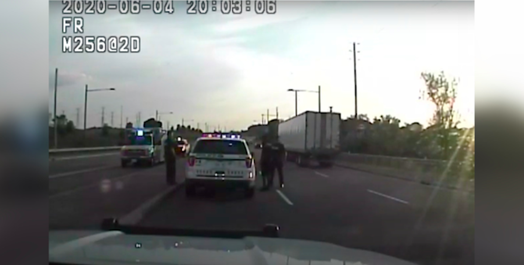 Concerned citizens block suspected impaired driver on GTA highway (VIDEO)