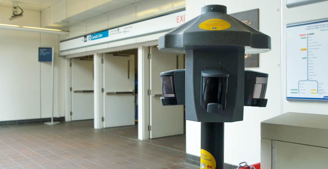 Hand sanitizer coming to every RapidBus and more SkyTrain stations