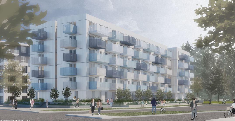 90 non-market rental homes proposed next to TransLink's Phibbs Exchange