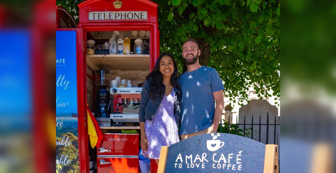 A couple is converting London's famous red phone boxes into mini cafes