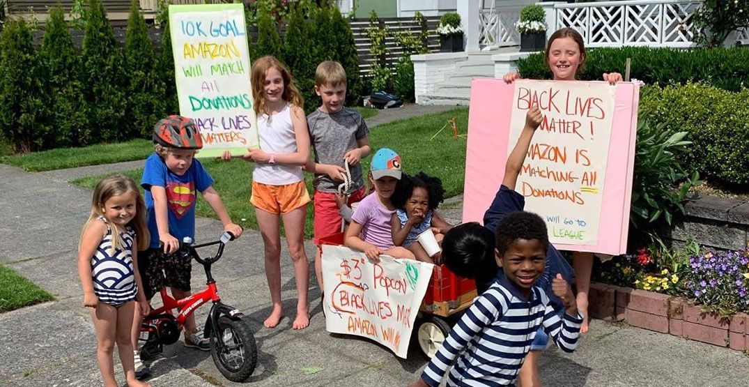 A group of Seattle kids held their own BLM protest and fundraiser (VIDEO)