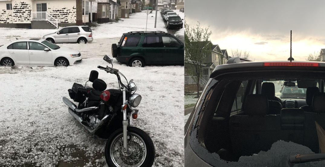 Severe June storm slams Alberta with hail and flooding