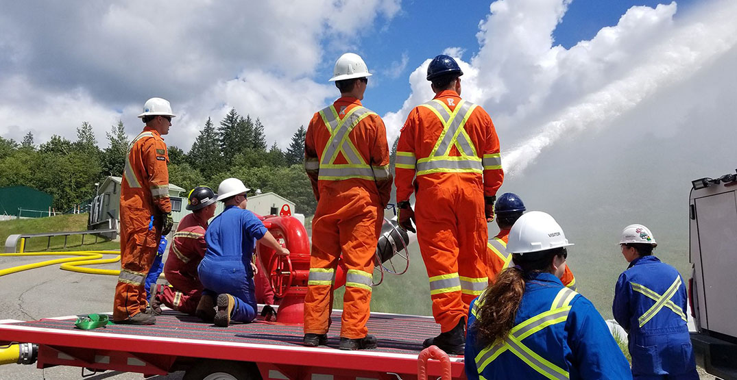 Crews cleaning up Trans Mountain pipeline spill in Metro Vancouver