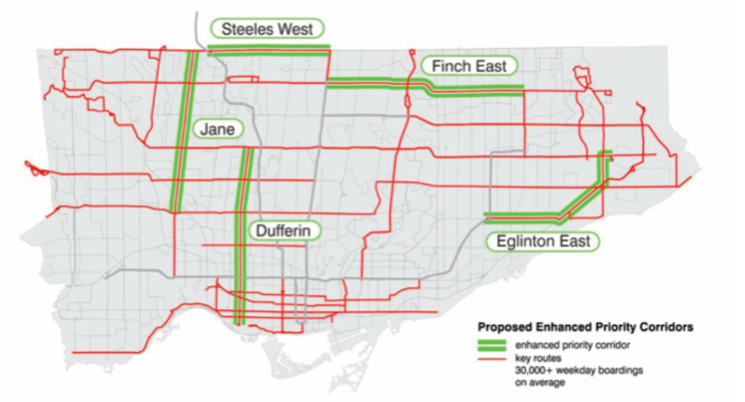 TTC looking to add priority bus corridors on major routes