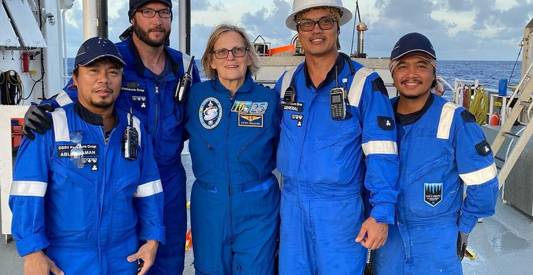 First US woman to walk in space is now first to visit ocean's deepest spot