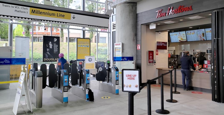 New Tim Hortons locations opening inside three SkyTrain stations