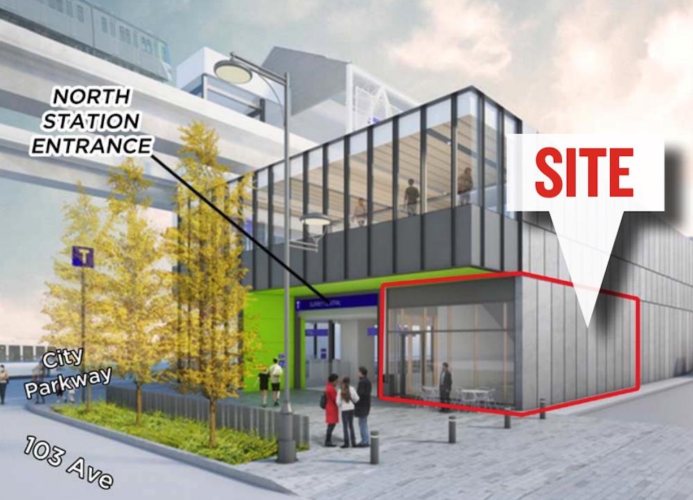 surrey central station retail unit