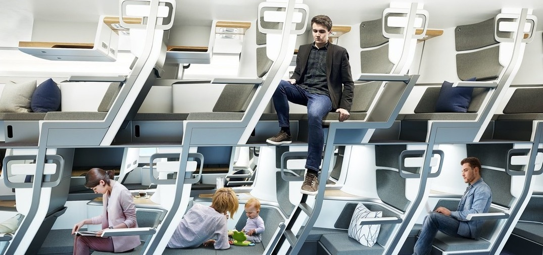 """New """"double-decker"""" airplane seat could revolutionize budget travel"""