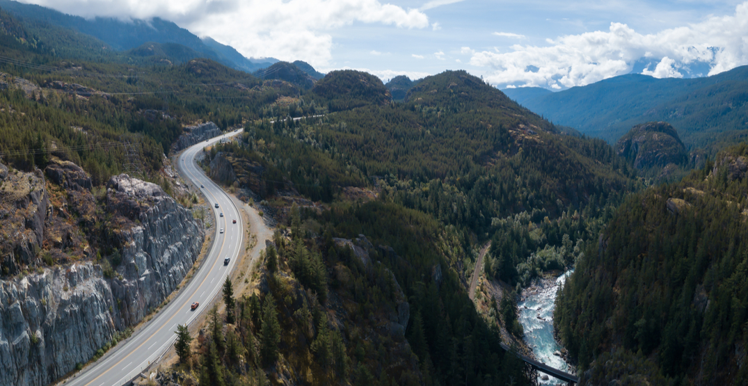Sea to Sky Highway closed northbound after crash near Lions Bay