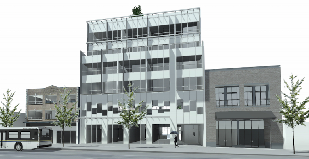 Six-storey building with retail and office proposed for Vancouver's Cambie Village