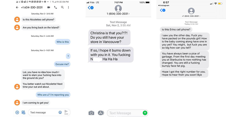 Threatening texts