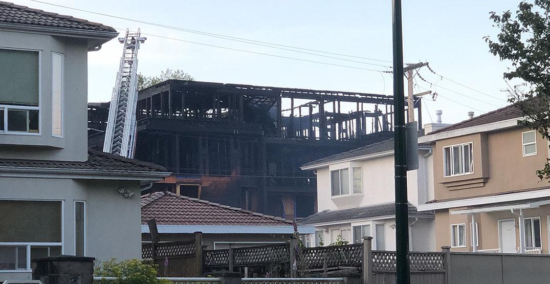 construction site fire