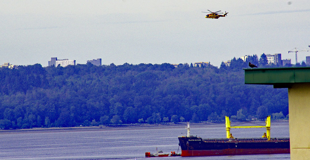 Coast Guard searching English Bay for man who fell overboard