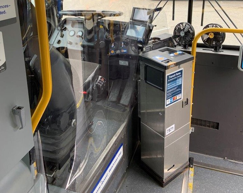 translink bus vinyl electronic fare machine