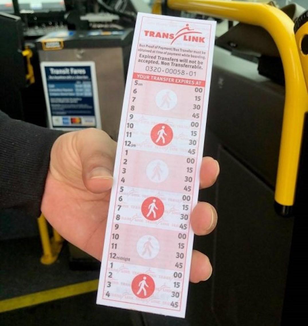 paper transfer tickets translink 2020