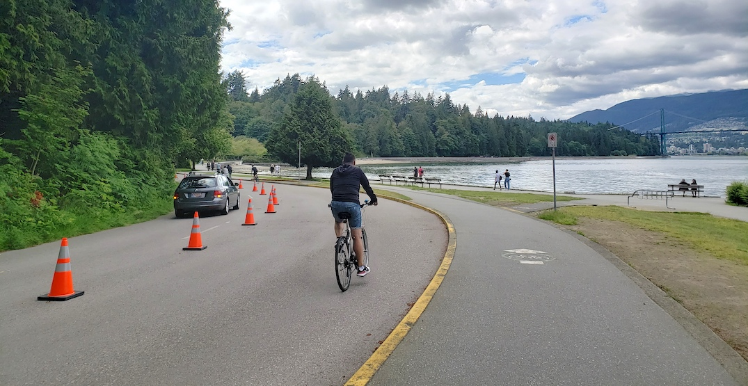 Park Board to consider bringing back Stanley Park's temporary bike lane this year
