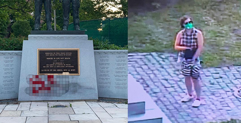 Ontario Police Memorial near Queen's Park vandalized over the weekend