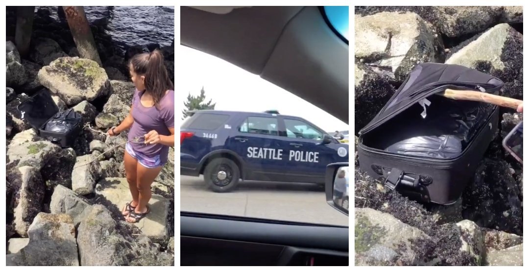 A video of teenagers finding human remains in Seattle is trending online