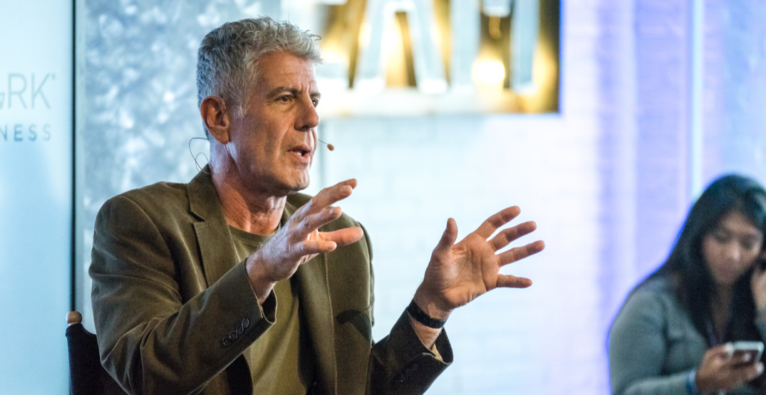 Vancouver eatery offering 'No Reservations' Anthony Bourdain experience