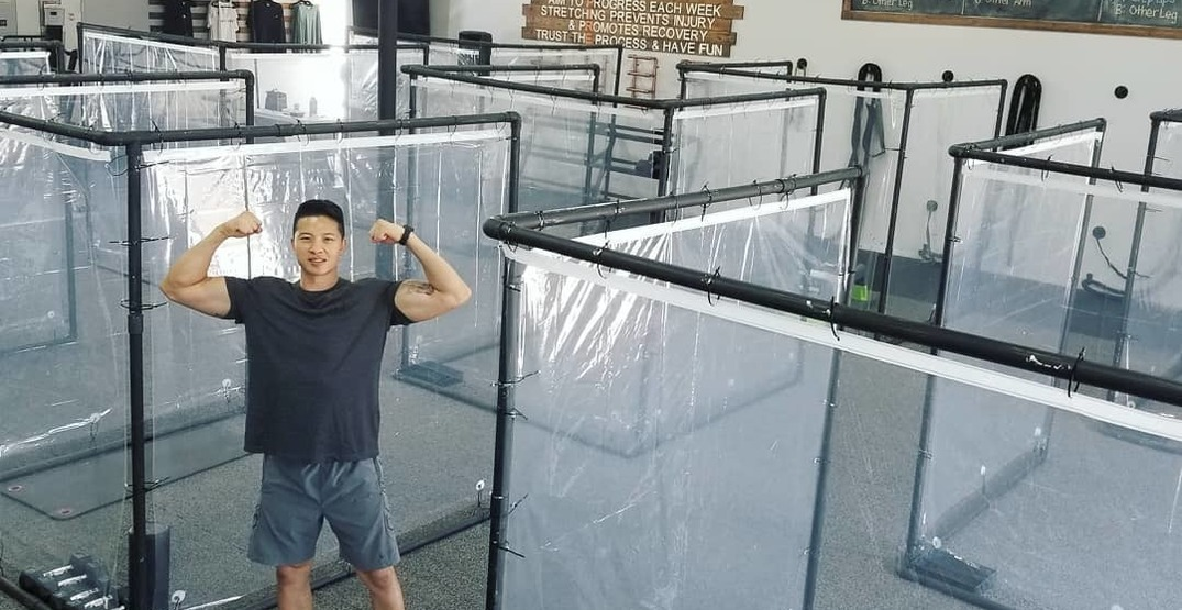 "California gym unveils new ""pods"" for customers to physically distance (VIDEOS)"