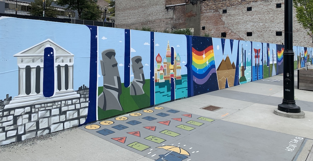 """80-metre-long """"We Are One"""" mural brings colour to New Westminster (PHOTOS)"""