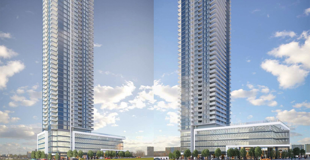 469-ft-tall condo and office tower proposed next to Gateway Station in Surrey