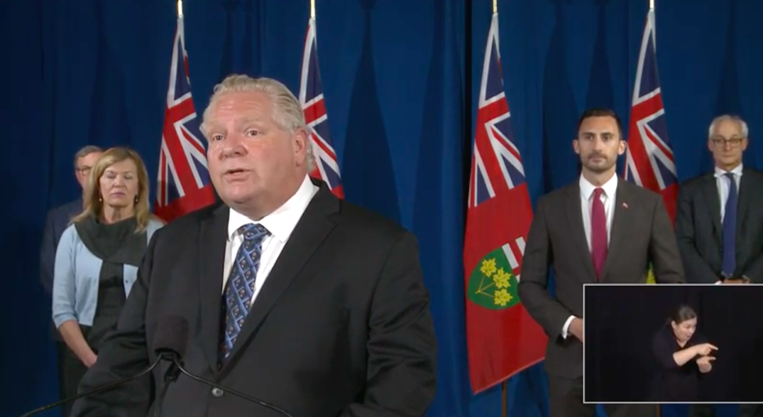 Ford to make an announcement with minister of labour today