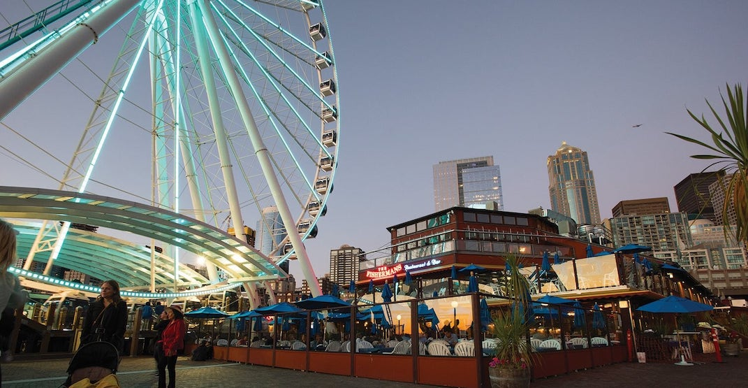 Seattle Great Wheel and restaurants are now open