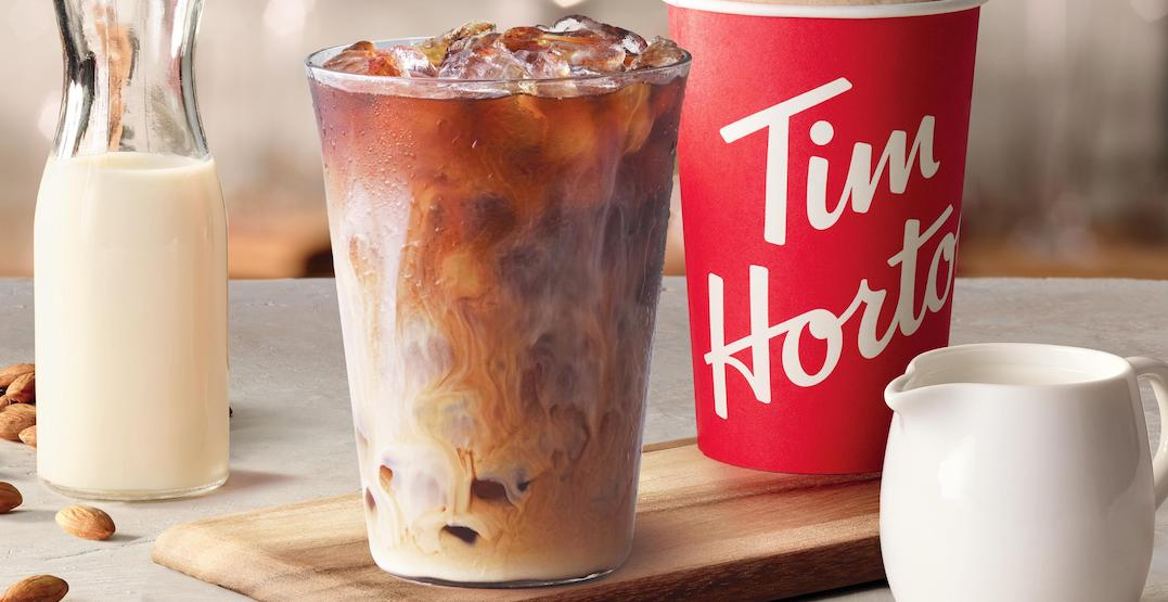Tim Hortons just introduced almond milk at locations across Canada