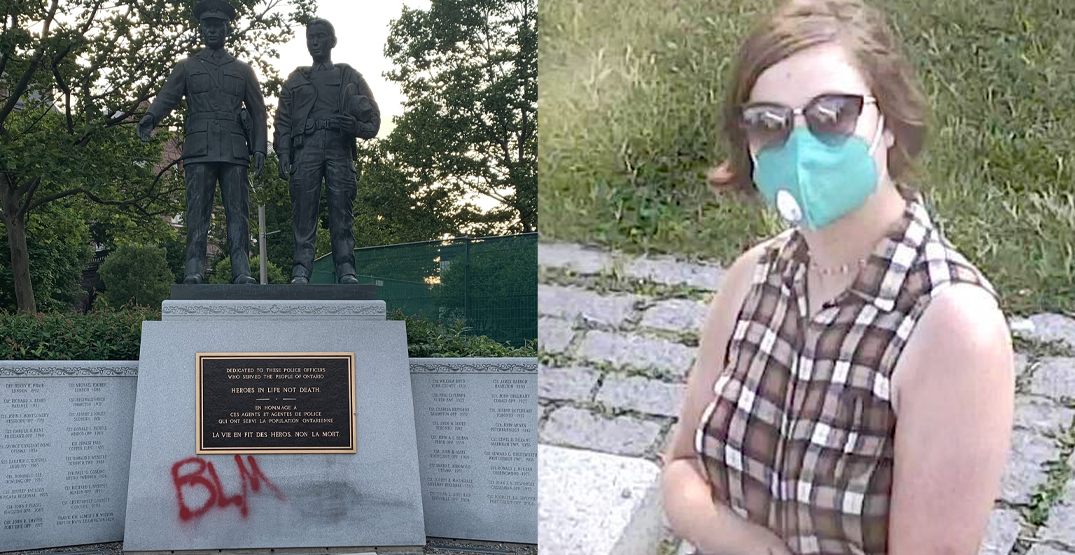 More photos released of person connected to Queen's Park monument vandalism