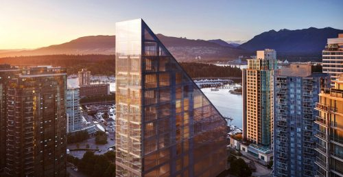 Luxury condo tower under construction in downtown Vancouver hits financial snag   Urbanized