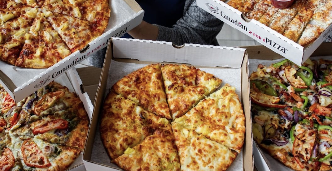 Canadian 2 For 1 Pizza Richmond offering buy-one-get-one FREE deal