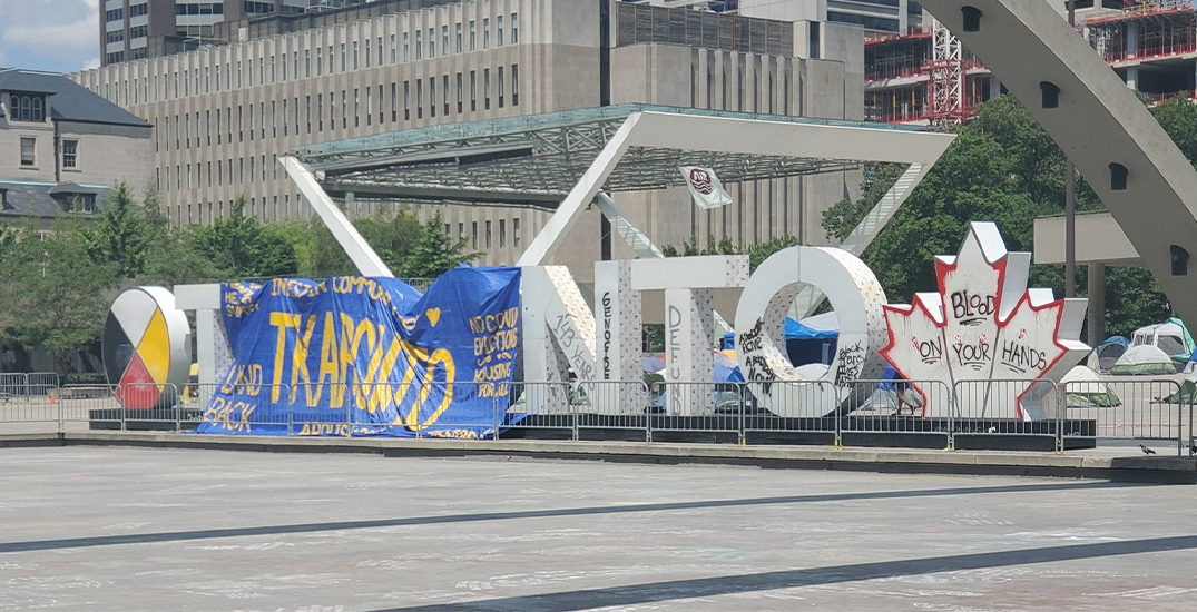 Popular Toronto sign at Nathan Phillips Square vandalized