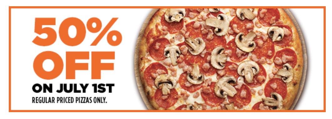 Pizza Pizza July 1 2020