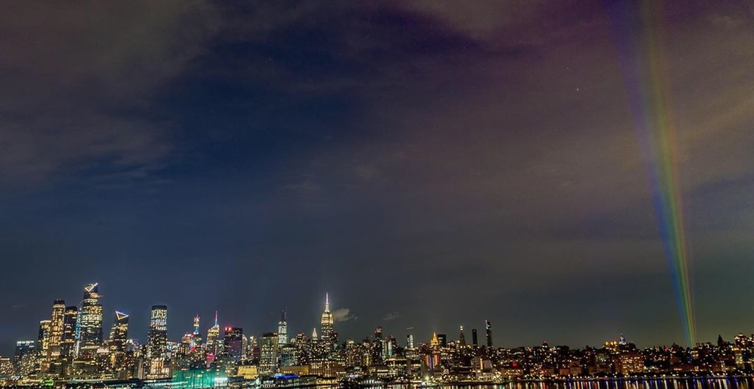 NYC's skyline will receive a touch of colour this weekend in honour of Pride