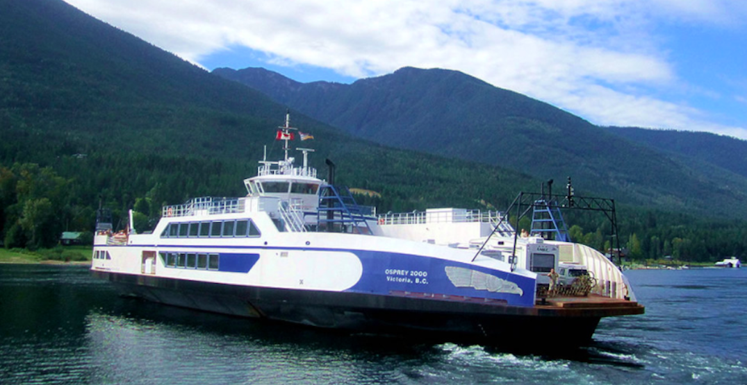 Coronavirus protection measures still in effect for BC's interior ferries