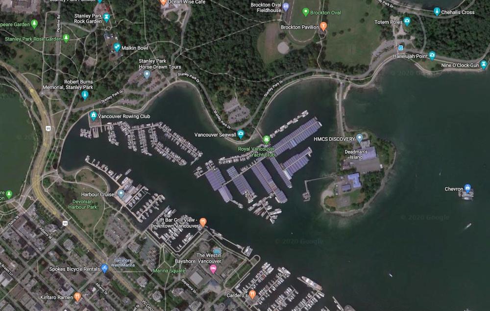 Royal Vancouver Yacht Club marina