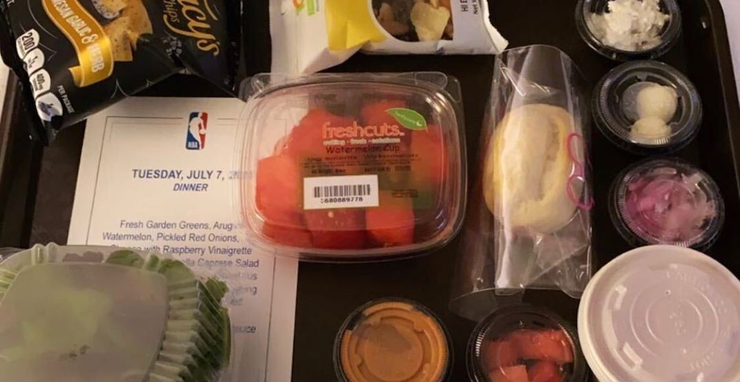 NBA players not impressed with food options inside Orlando bubble