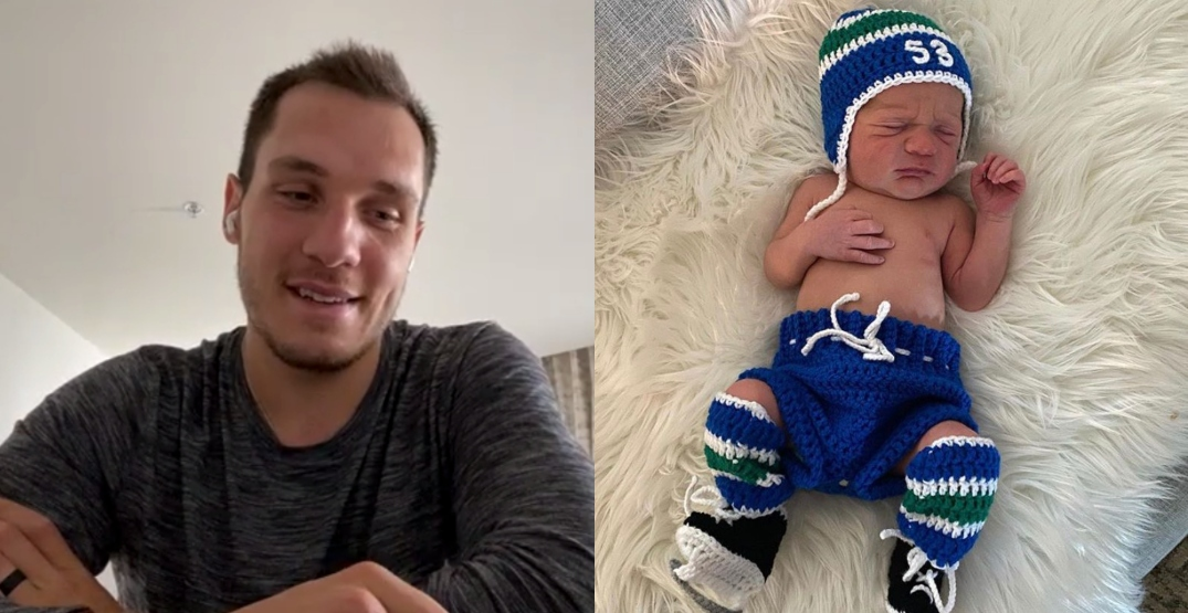 New dad Horvat missing his baby while preparing for playoffs with Canucks