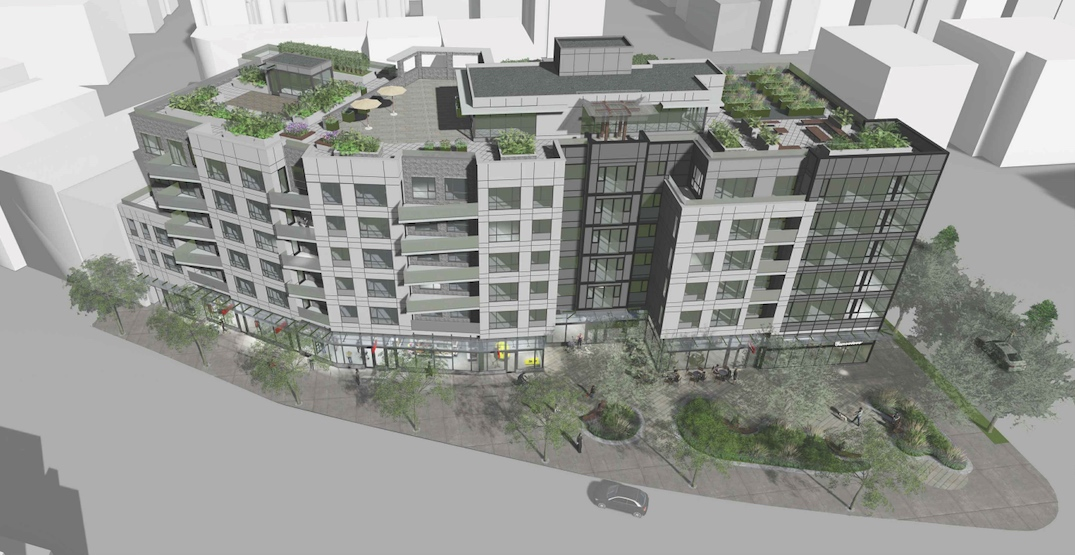 80 rental homes with giant rooftop amenity proposed for Kingsway in Mount Pleasant